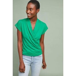 ANTHROPOLOGIE MAEVE Wakefield Wrapped Top